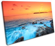rocks scenic Sunset Seascape - 13-0117(00B)-SG32-LO